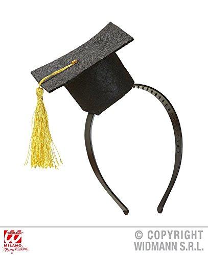 Widmann-5692 Mini-Hut für Abschlussfeier, Schwarz