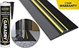 Garadry ¾' High Garage Door Threshold Seal Kit (10'3') | Black/Yellow, Vinyl | Complete Kit, Includes Adhesive