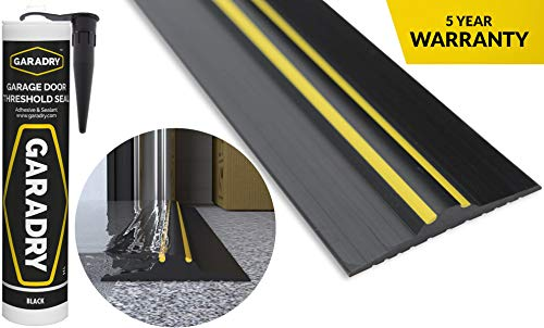 "Garadry ¾"" High Garage Door Threshold Seal Kit (10'3"") 
