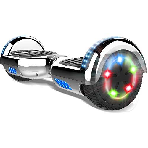 COLORWAY Elettrici Scooter 6.5inch E-Skateboard 2 x 350W Smart Scooter con LED Monopattini Elettrici Autobilanciati