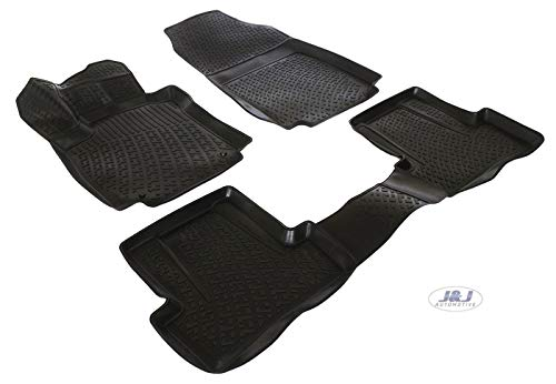 J&J AUTOMOTIVE | 3D Exclusive Tapis DE Sol en Caoutchouc Compatible avec Renault Clio IV 2012-2019 4pcs