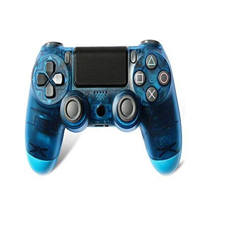 HDHL Mando ps4Controlador inalámbrico Joystick Game Board Controlador inalámbrico Bluetooth Game BoardPS4Game BoardTransparentBlue
