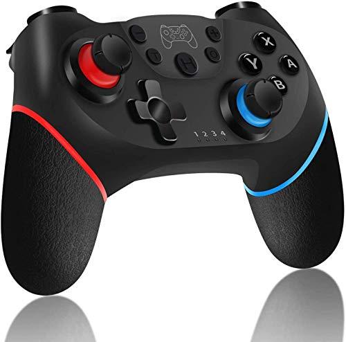 Sendowtek Control Inalámbrico para Nintendo Switch Pro, Joystick Remoto Bluetooth para Consola Nintendo Switch, Gamepad con Turbo Gyro Axis y Dual Shock, Apto para Todos los Juegos de Nintendo Switch