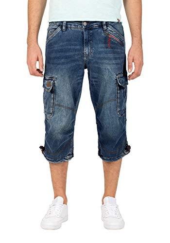 Timezone Herren Loose Milestz Shorts, Blau (White Used wash 3300), W33(Herstellergröße:33)