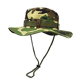 UltraKey Chapeau de Soleil à Large Bord Extérieur, Couche Double Style d'armée de Combat Classique Jungle Chapeau de…
