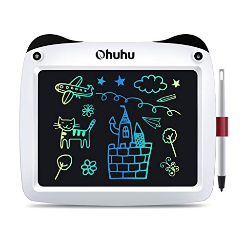 "LCD Writing Tablet Colorful Screen, Ohuhu 9"" Electronic Drawing Board, Doodle Board, LCD Digital Handwriting Pad Gifts for Kids Children at Home and School, Scribble and Play Learning Boards Ages 3+"