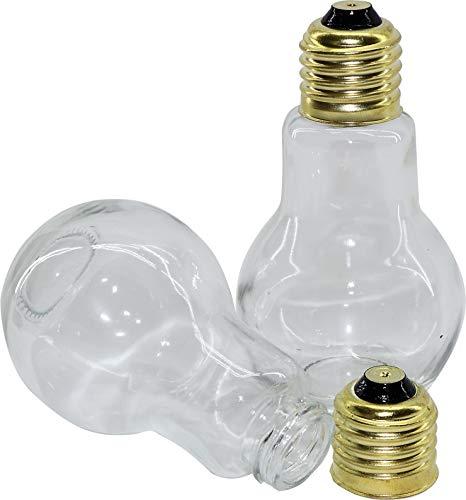RMB® - Juego de 2 saleros y pimenteros con diseño de bombillas