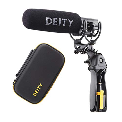 Deity V-Mic D3 Pro Location Kit 3.5mm TS TRS or TRRS Super-Cardioid Directional Shotgun Microphone with Rycote Duo-Lyre Shock Mount for DSLRs, Camcorders, Smartphones, Tablets, Handy Recorders, Laptop