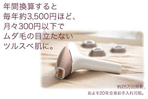 フィリップス光美容器ルメアプレステージシャンパンゴールド/ホワイトBRI948/70
