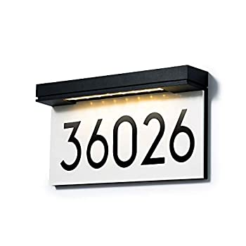 House Numbers Solar Powered Address Plaques for House LED Illuminated Waterproof Outside Address Sign 3000K Warm White LED