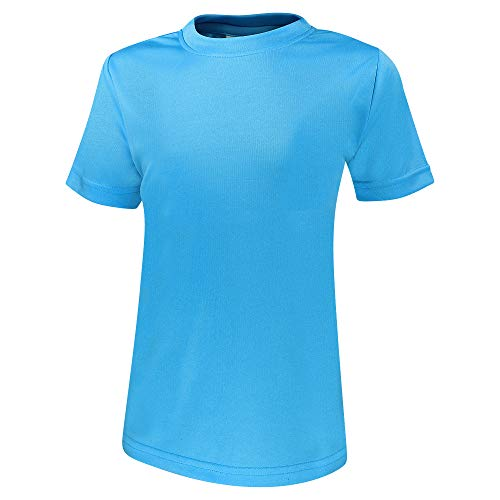 Alps to Ocean Sports Kinder Sportshirt Funktions T-Shirt Teamsport (schnelltrocknend, atmungsaktiv), Größe:116, Farbe:Blue