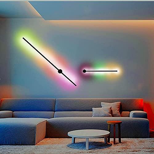 Lámpara de Pared RGB con Control Remoto, Lámpara de Pared LED Regulable de Luz de Pared Interior Moderna para Sala de Estar, Dormitorio, Lámpara de Pared de Pasillo Ajustable de Color RGB 100cm