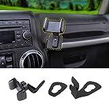 JeCar Multi-Functional JK Phone Holder, 2 in 1 Phone & Walkie Talkie Bracket for Jeep Wrangler 2011-2018 Jeep Wrangler JK JKU, Gray