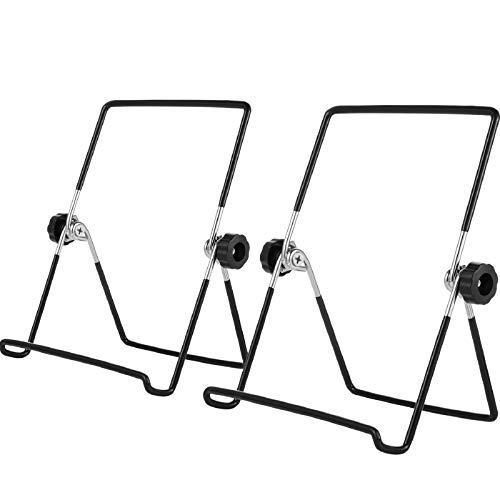 3 Packungen Staffelei Bilderrahmen Ständer Verstellbarer Faltbarer Tablette Eisen Display Halter Ständer für Anzeige von Fotos, Tellern und Kochbüchern (Schwarz)