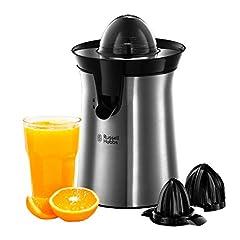 Russell Hobbs prasy organ & citrus press elektryczne (2 autom. lewo- & prawo obrotowe stożki prasy do cytryny / pomarańczy), funkcja kroplówki, zmywarka do naczyń, BPA-free, sokowirówka 22760-56
