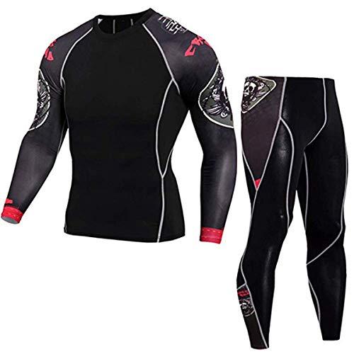 Conjunto de chaqueta de manga larga para hombre para correr y fitness, conjunto de 2 piezas, conjunto de ropa de entrenamiento, L, Color 5