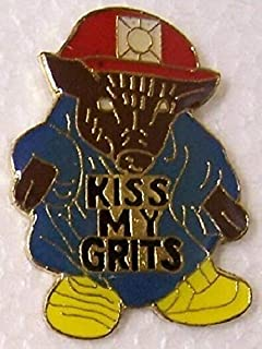 Pin for Hats - Hat Lapel Pin Humorous Kiss My Grits New - Decoration for Clothes