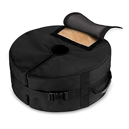Becoyou Umbrella Base Weight Bag, Portable Round Patio Umbrella Base Weights Detachable Wind-Proof Fixing Sandbags with Handles for Outdoor Beach Garden Umbrella Stands