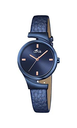 Lotus Damen Analoger Quarz Uhr mit Echtes Leder Armband 18345/1