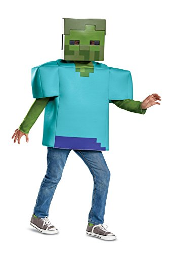 Disguise Zombie Classic Child Costume, Green, Medium/(7-8)