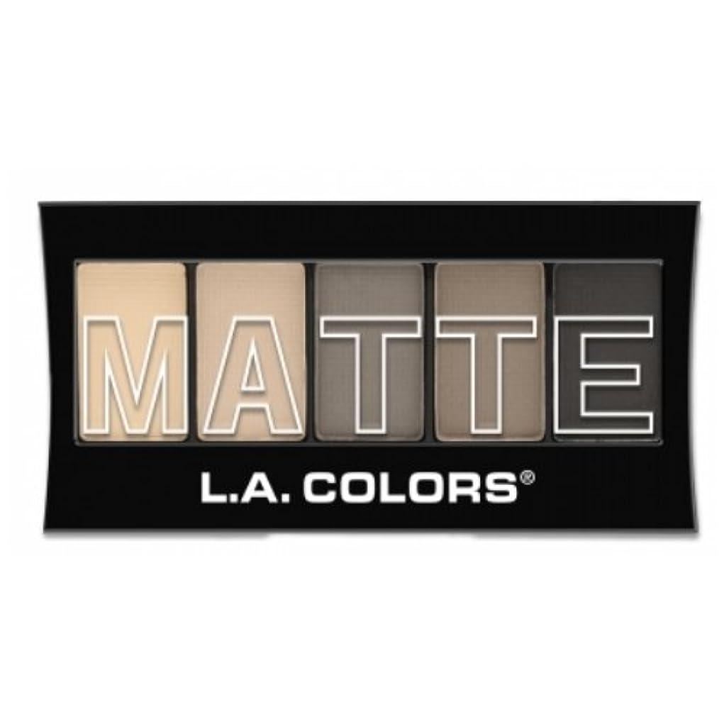 ブランクグリーンバック補正(6 Pack) L.A. Colors Matte Eyeshadow - Nude Suede (並行輸入品)