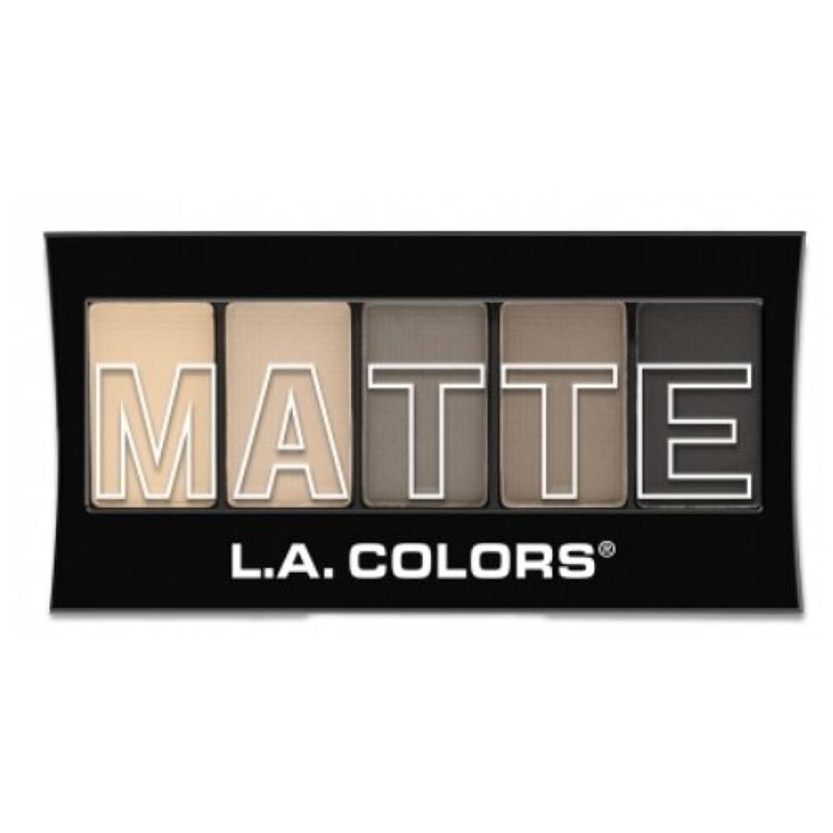 神学校実験眠る(3 Pack) L.A. Colors Matte Eyeshadow - Nude Suede (並行輸入品)