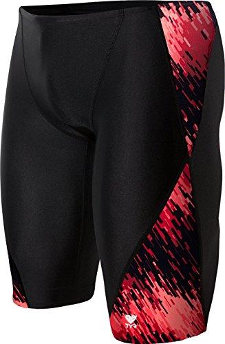 TYR Men's Perseus Jammer Swimsuit, Red, 32