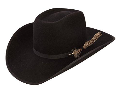 RESISTOL Boys Holt Jr B Felt Cowboy Hat O/S Fits 7 & Smaller Black