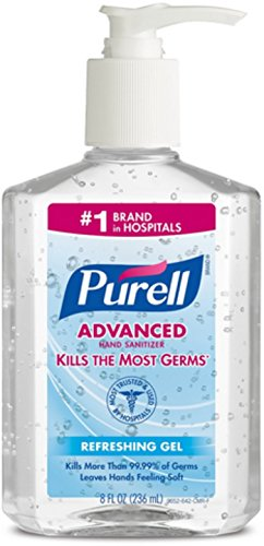Purell Advanced Instant Hand Sanitizer Gel 8 oz (Pack of 3)