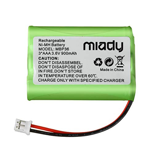 Miady 900mAh 3.6V NI-MH Replacement Battery for Motorola MBP27T MBP33 MBP33S MBP33PU MBP33BU MBP33P MBP36 MBP36PU MBP35 MBP41 MBP43 MBP18 CB94-01A Baby Monitor(not Compatible with MBP36S)