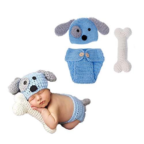 Accesorios para fotografía de recién nacido, set de disfraz para perro, fotografía de punto