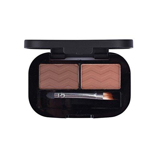 MagiDeal Palette de Poudre à Soucils Eyebrow Ombre de Maquillage Semi-permanent à 2 Couleurs avec Brosse - Waterproof et Durable - 02