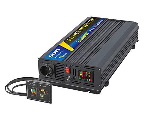 Sug 3000W DC 48V auf AC 220V 230V Wechselrichter Reiner Sinus Spitzenwert 6000W Spannungswandler Power Inverter Pure Sine Wave mit Fernbedienung