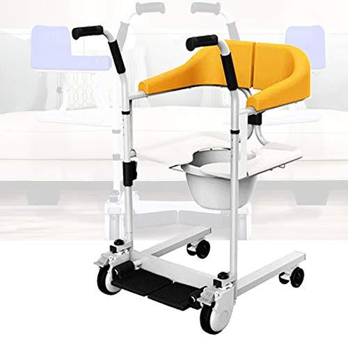 Enwebalay Rollstuhl Treppenlift Stuhl, Multifunktion Tragegurte Umzug Freier Aufzug, Treppenlift zur Pflege GeläHmter äLterer Menschen, Belastbarkeit 120 Kg,Gelb
