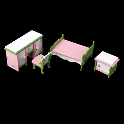yotijar Juego de Madera en Miniatura / Juego de Muñecas de Madera para Sala de Estudio