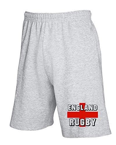 T-Shirtshock Jogginghose Shorts Grau TRUG0010 England Rugby