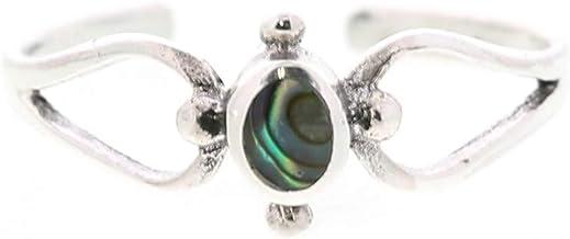 [ラグリーズ] トゥリング シルバー925 指輪 エスニック 天然石 ピンキーリング トゥーリング ストーン シェル E・シェルダーク