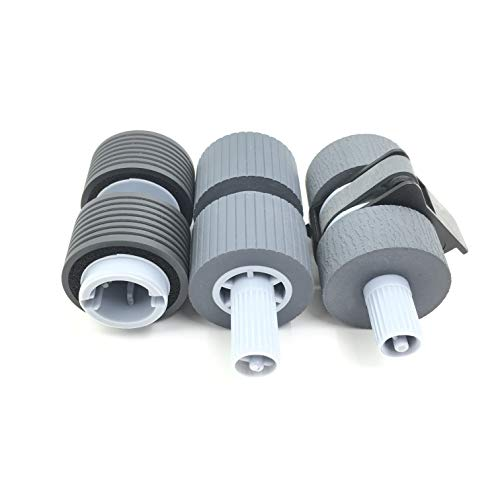 OKLILI PA03338-K011 PA03576-K010 Pick Pickup Roller Brake Roller Compatible with fi-6670 fi-6670A fi-6770 fi-6770A fi-5650C fi-5750C