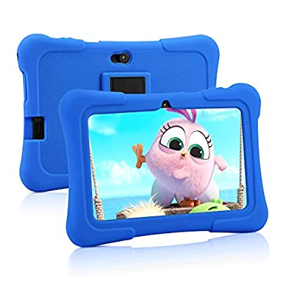 Pritom 7 inch Kids Tablet   Quad Core Android,16GB ROM   WiFi,Bluetooth,Dual Camera   Educationl,Games,Parental Control,Kids Software Pre-Installed with Kids-Tablet Case (Dark Blue)
