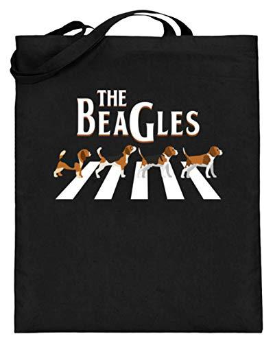 Chorchester Die Beagles Für Alle Hundeliebhaber - Jutebeutel (mit langen Henkeln) -38cm-42cm-Schwarz