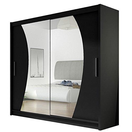 Kleiderschrank mit Spiegel London IX, Schwebetürenschrank, Schiebetürenschrank, Modernes...