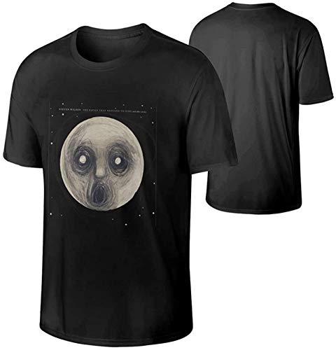Steven Wilson Man's Short Sleeve CrewneckT Shirt,Soft and Comfortable Black