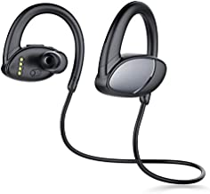 SanJune Wireless Headsets Bluetooth 5.0 with Microphone, IPX8 Waterproof MP3 Player, Built-in 8G Memory Sports Earbuds for Swimming, Running, Gym Workout