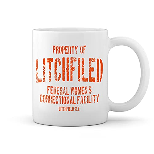 Litchfield Prison Inspired Orange Is The New Black Blanco taza Mug
