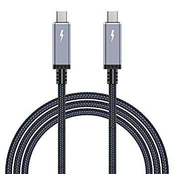 5ft  1.5m  40Gbps USB4 Cable Compatible with Thunderbolt 3 Cable 100W Nylon Braided Compatible for Thunderbolt 3  USB C  Hub eGPU Adapter Devices 20V/5A