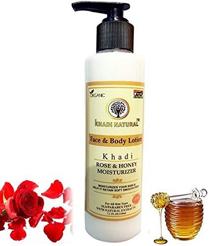Khadi Natural Herbal Rose & Honey Body Lotion (210ml)