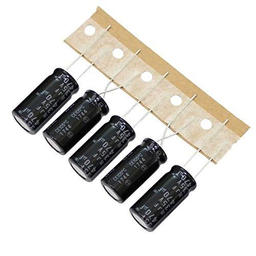 10x Elko Kondensator radial 470µF 35V 105°C ; RJM-35V471MH4E2N-T2 ; 470uF