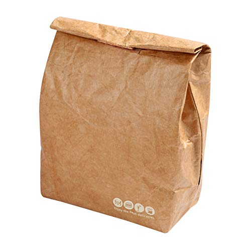 1PC Lunch Bag Package Kraft Paper Aluminum Film Lunch Box Bag Picnic Insulation Ice Pack Best Partner For Lunch