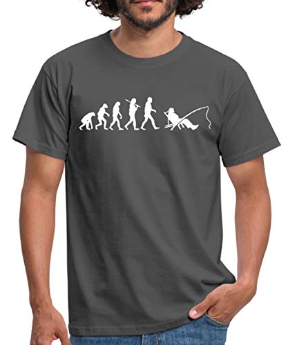 Angeln Evolution Angler Männer T-Shirt, L, Graphite