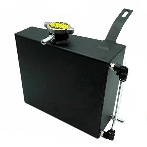 Heinmo Réservoir de liquide de refroidissement JDM en aluminium pour Supra MK III IV 7MGTE 2JZGT-Noir 2 L